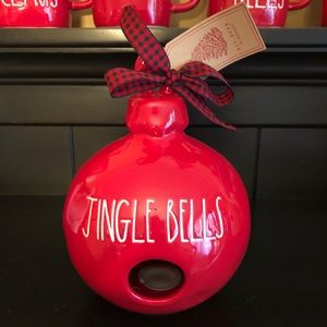 Rae Dunn JINGLE BELLS Birdhouse